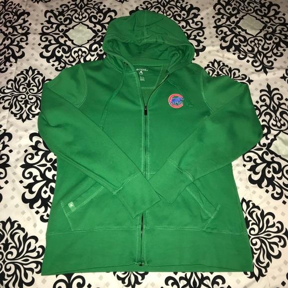 wholesale dealer c1f6f d516e Green Chicago Cubs Zip Up Hoodie